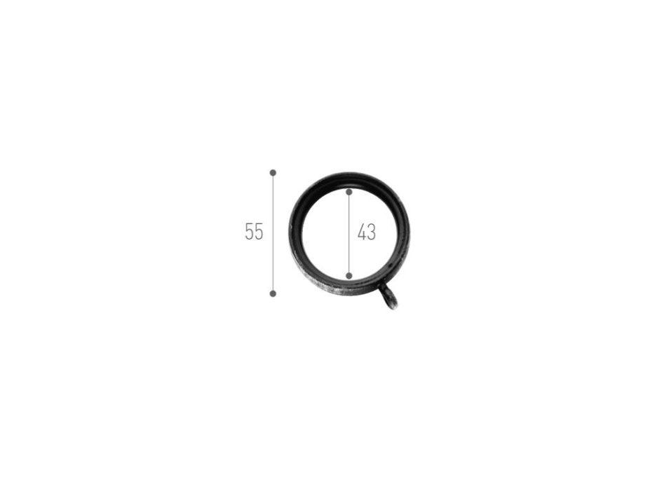 anello per bastone in ferro tende