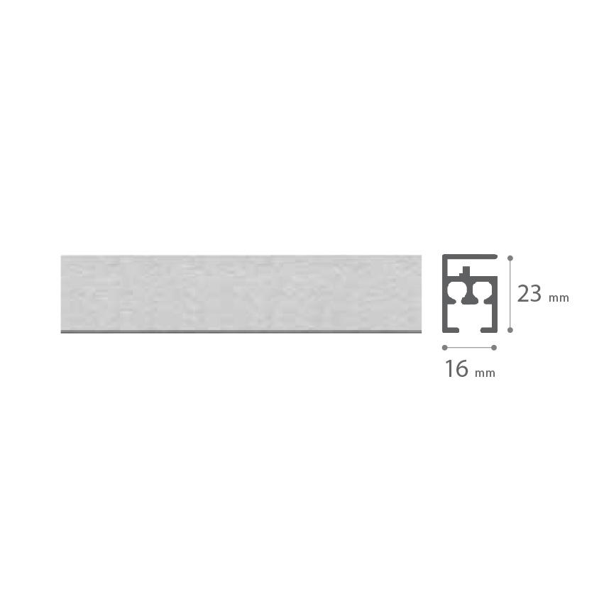 sezione profilo 16x23 scaglioni